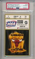 1996 NBA Eastern Conf Finals Bulls vs Magic GM 2 Ticket Stub PSA #5071 Jordan