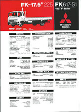 MITSUBISHI FK617-S1 TRUCKS SPECIFICATIONS BROCHURE September 1995