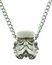 OFFICIAL STAR WARS STORMTROOPER 3D GUN METAL PENDANT ON CHAIN NECKLACE *NEW*