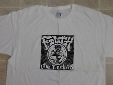 "Used/Worn FILTH Live The Chaos T-SHIRT Mens LARGE Crust Punk THIN ep 7"" Patch L"