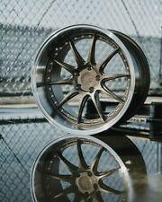 """18x9.5/18x10.5 5x114.3 +15 Bronze Wheels Aodhan DS07 Rims 18"""" Staggered (Set 4)"""