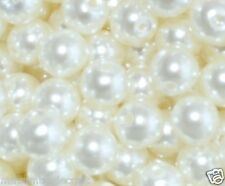 100pcs cream imitation pearl round acrylic beads 10mm