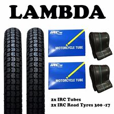 2x IRC Road Tyre 6 Ply and 2x  IRC Tube 300-17 for Honda CT110 Postie Bikes