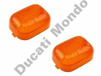 Pair of indicator lens Cagiva Mito Ducati 748 916 996 998 Monster ST2 ST3 ST4