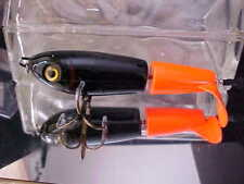 """Tyrant 6 1/2"""" TOP Water CRUSADER TCR1006 for Musky/Pike Fishing -BLACK FIRE TAIL"""