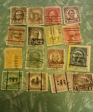 Lot of 16 -1922 to 1925 United States Stamps ~See All Photos to Appreciate!