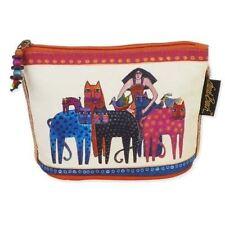 Laurel Burch Feline Minis Small Cosmetic Clutch Pouch Friends Cat Makeup Bag