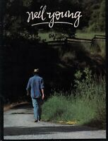 NEIL YOUNG 1984 / 1985 OLD WAYS TOUR CONCERT PROGRAM BOOK BOOKLET / NMT 2 MINT