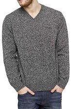 Herren-Pullover aus Mischwolle mittlere Strickart mit V-Ausschnitt