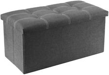 YOUDENOVA 30 inch Storage Ottoman Bench, Fordable/ Bench/ 80L- LID