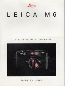Leica Brochure For Leica M6 - Brochure