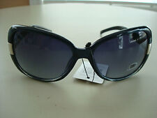 NEW DG VINTAGE WOMENS FASHION RETRO PLASTIC FRAME SUNGLASSES BLACK