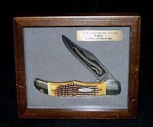 Case xx 5165 Knife & Shadow Box 80th Anniversary Second Cut Stag Handles Rare