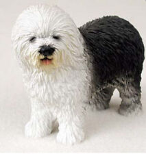 Old English Sheepdog Figurine Hand Painted Statue