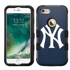 for Apple iPhone 7 Impact Armor Rugged Hybrid Cover Case New York Yankees #N