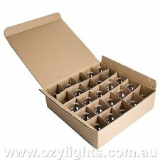 Box of 25 Clear Fancy Round Light Globes