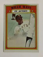 1972 Topps Willie Mays # 50 Baseball Card San Francisco Giants SF In Action HOF