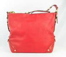 COACH LRG Red Leather Carly Shoulder Bag Hobo #10616