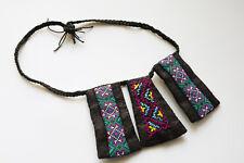 Handmade brocade necklace-women jewelries-Birthday, Valentine, Christmas gifts