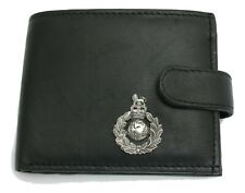 Commando Leather Wallet BLACK Card Slots Mens Present Military Gift 432