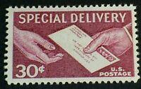 US Scott E21 1957 30c Letter & Hands, Special Delivery MNH OG F-VF