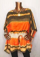 Michael Kors Women NWT $99.50 Top Blouse S/M 3/4 Slv Tie On Hip MK Logo Light