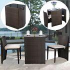 3pcs Patio Bistro Coffee Table Chair Set Outdoor Garden Wicker Dinning Furniture