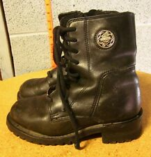HARLEY-DAVIDSON biker boots size 5.5 women's motorcycle beat-up shoes