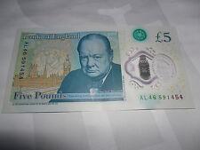 £5 NOTE AL FIVE POUNDS POLYMER NOTE ALAN ALISON ALANA ALASTAIR ALBA ALEX NEW UK