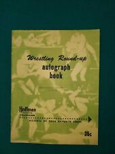 1950 Wrestling Round Up Autograph Book -  Hoffman TV