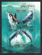 Centrafrique 2013 Baleines (206) Yvert n° 2810 à 2813 oblitéré used