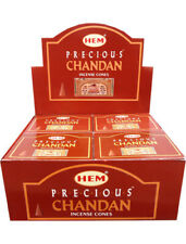 3 boîtes d'encens HEM Chandan Précieux en cônes boîte de 10