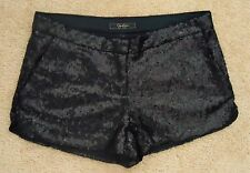 JESSICA SIMPSON Black All Over Sequin Antoinette Dress Shorts S NWOT! SOLD OUT!
