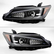 Scion tC 2011-2013 Black Projector LED Light Bar DRL Headlights Pair w/ LED Turn