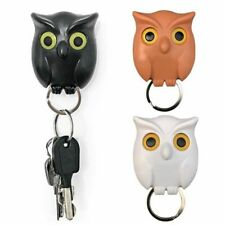 1PCs Night Owl Black White Coffee Magnetic Wall Key Holder Magnets Keychains