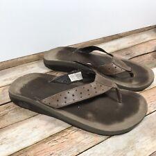 Chaco Bora Ecotread Bungee Cord Beige Mens Flip Flop Thong Sandals Sz 11