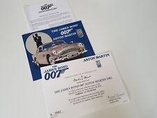 danbury mint aston martin james bond 007 cetificate and paper work