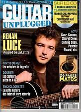 "GUITAR UNPLUGGED #10 ""Renan Luce,S.Crow,Festival Django,John Butler"" (REVUE+CD)"