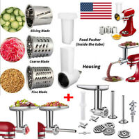 Meat Grinder + Prep Slicer Attachment Kitchen Set For KitchenAid Stand Mixer