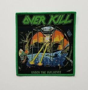 OVER KILL under the influence WOVEN PATCH