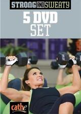 CATHE FRIEDRICH STRONG AND SWEATY 5 DVD SET EXERCISE DVD WORKOUT NEW SEALED