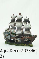"Beautiful 5"" Resin Pirate Sunken Shipwreck for Aquarium/FIsh Tank(SHIP FROM USA)"