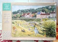 WH Smith Picnic by the Stream 1000 Piece Jigsaw Puzzle Trevor Mitchell Art River