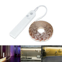 1/2/3M PIR Motion Sensor Led Light Strip Bulb Cabinet Kitchen Closet Lamp DC5V
