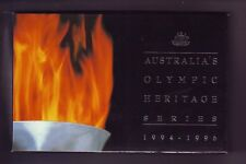 1994 1995 1996 Australian Olympic Heritage Series Box Case Certificate Set only