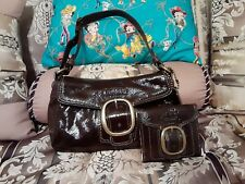 GUC SMALL COACH PATENT LEATHER SHOULDER BAG & WALLET