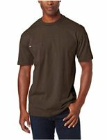 Dickie's Men's Heavyweight Crew Neck Short Sleeve, Chocolate, Size X-Large Tall