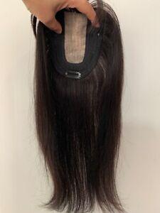 Silk top parting 100% VIRGIN human hair small topper hairpiece top piece wiglet