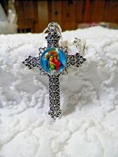 Silver Plated 1mm SnakeChain N614 Interchangeable Religious Cross Snap Charm On