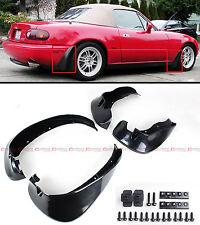 For 1990-1997 Mazda Miata NA JDM 4pcs Front & Rear Splash Mud Flaps Guards Set